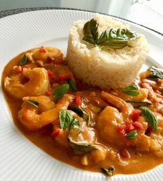 Curry Shrimp, Thai Red Curry, Ale, Food And Drink, Treats, Ethnic Recipes, Indie, Sweet Like Candy, Goodies