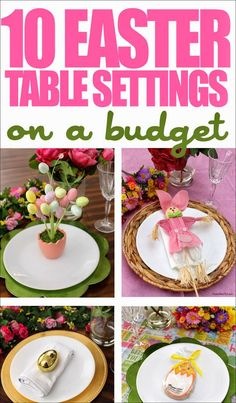 Best DIY Projects: 10 Easter Table Setting Ideas on a Budget