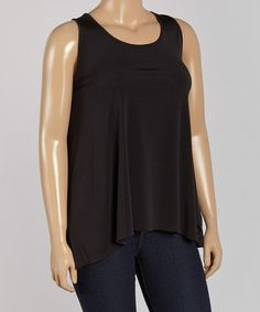 Another great find on #zulily! Black Swing Tank - Plus #zulilyfinds