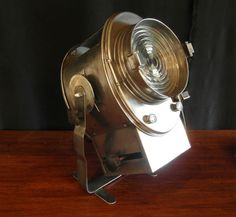 Vintage French Theatre Stage Light.