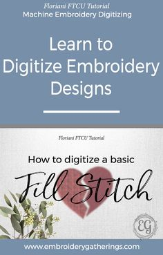 Learn to digitize a Fill Stitch with Floriani FTCU embroidery software. This tutorial includes step by step instructions, photos, video and a pdf download. via @EmbroideryGatherings