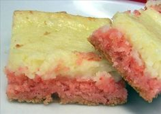 Strawberry cream cheese bars....even better with a little strawberry jam on top