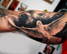 100 Inner Bicep Tattoo Designs For Men - Manly Ink Ideas White Dove Tattoo Male Inner Biceps Tatoo Biceps, Bicep Tattoo Men, Inner Bicep Tattoo, Tattoo Arm, Inner Forearm, Tattoo Sleeve Designs, Tattoo Designs Men, Dove Tattoo Design For Men, Wing Tattoos