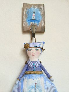 "Art Doll ""Baltic"" OOAK wall hanging"