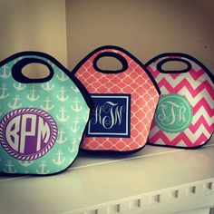 NEW! Monogrammed Lunch Tote