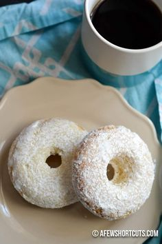 You have to try this simple and tasty Gluten Free Powdered Sugar Doughnuts Recipe. Can be made dairy free too. Such a yummy breakfast treat!