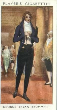 Beau Brummell, born as George Bryan Brummell in Westminster, London. A gambler and dandy and one of the Prince Regent's favourites, he set the dress code of the day and effectively invented the modern trousers. Considered by some to be the first celebrity. Died in the charitable asylum of Bon Sauveur, Caen, France