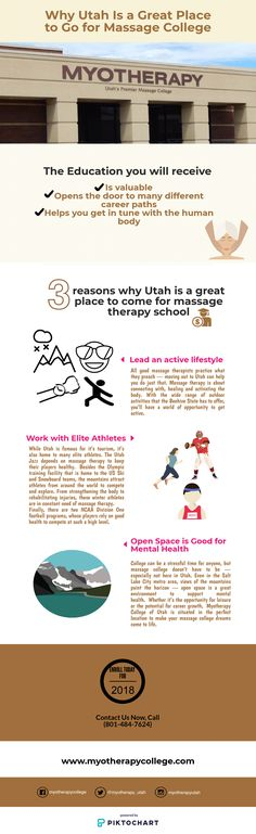 Massage Therapy School, Career Path, Infographics, Utah, College, Dreams, Teaching, Make It Yourself, Education
