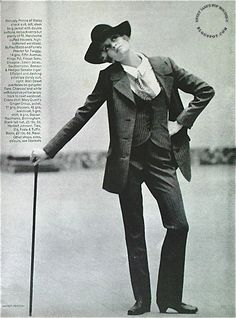 Twiggy and the Dandy Look ~ Photographed by Helmut Newton, VOGUE September 15 1967