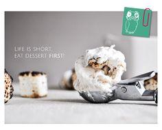 Life is short. Eat dessert first! #dessert #icecream #earlybrds