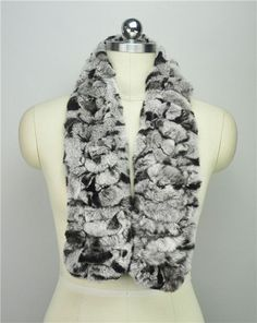 Long Rabbit Fur Scarf Women Winter Shawls and Scarves Knitted Real Fur Muffler Warm Ladies Scarves Soft Striped AU00422