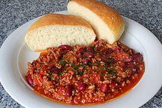 Chili con Carne (nicht schnell, aber gut einzufrieren, und immer gut)