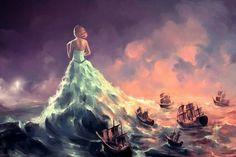 Digital painting by French artist Cyril Rolando