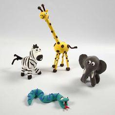 Most recent Absolutely Free silk Clay diy Style Wilde Dieren van Silk Clay Clay Animals, Zoo Animals, Animals For Kids, Wild Animals, Animal Projects, Projects For Kids, Art Projects, Chenille, Fimo Clay