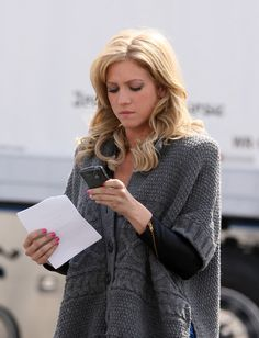 Love Brittany Snow's hair and makeup here.