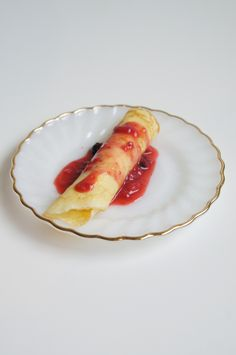Dessert Crepes with Heavenly Creme and Berry Sauce on MyRecipeMagic.com