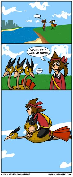 Dodrio learned fly! ...somehow    http://www.player-two.com/comics/2011-02-27-Dodrio%2520Fly.gif