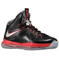 Nike Lebron X + Enabled -  Pressure  - Black Chrome University Red Cool Grey 774cb11cc0