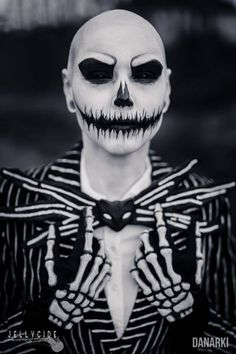 Awesome makeup; Jack Skellington by Karin Olava Effects Photo by Danarki Photography