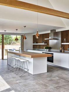 Open Plan Kitchen Living Room, Kitchen Room Design, Kitchen Cabinet Design, Modern Kitchen Design, Kitchen Layout, Home Decor Kitchen, Interior Design Kitchen, New Kitchen, Kitchen Ideas