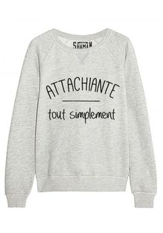 Sweat Si je n 39 existais pas Mode Outfits, Fashion Outfits, Womens Fashion, Funny Shirts, Tee Shirts, Look 2017, Sweater Shirt, Dress Codes, Hoodies