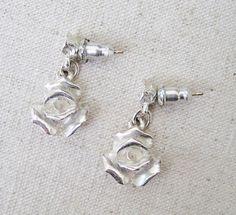 1928 Rose Earrings Vintage Pierced Earrings 1928 Jewelry