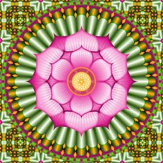 Don't Eat the Paste: Lotus Mandala Coloring Page or Embroidery Pattern
