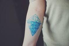 Iceberg color tattoo