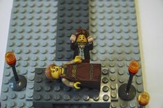 LEGO Literary scenes - Romeo & Juliet Check out the Waterstones blog on the 13th for a LEGO competition. Romeo's face is really selling this scene!