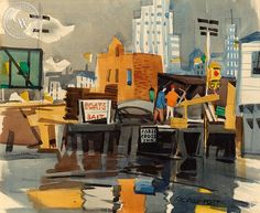 George Post (1906-1997) - Cable Crossing