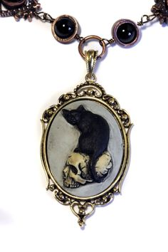 Steampunk Goth Jewelry  Necklace  Feline / by CatherinetteRings, $60.00