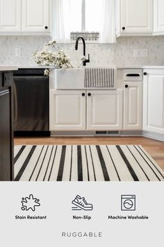 The first waterproof, stain resistant area rug made for your washing machine.