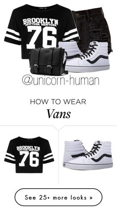 """Untitled #2138"" by unicorn-human on Polyvore featuring Boohoo and Vans"