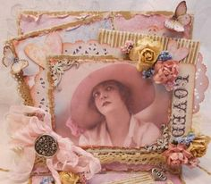 ELITE4U Vintage Shabby Mothers Day Handmade Card by Rina | eBay