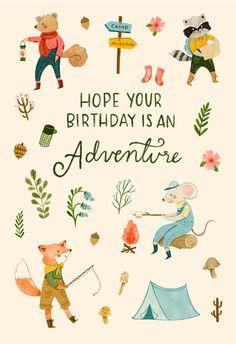 Happy Birthday Cards, Birthday Greeting Cards, Birthday Greetings, It's Your Birthday, Birthday Wishes, Bday Cards, Art Birthday, Birthday Stuff, Birthday Ideas