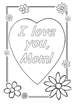 Cool Coloring Sheets | Love You Mom Coloring Pages | Cool Christian Wallpapers