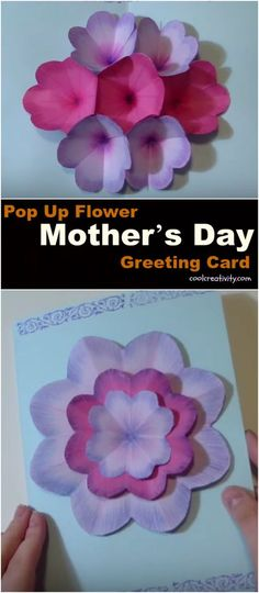 Making a card for mom on Mother's Day is a great way to make her feel special. Pop Up Flower Card for Mom is surely a great way to show your appreciation.