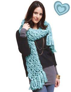 Chunky scarf :) #crochet