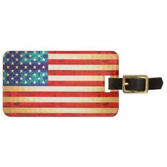 America money flag luggage tag - accessories accessory gift idea stylish unique custom