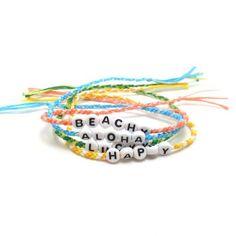 Natural Hemp Besties Friendship Bracelets Set Of 2 Multi Color Alphabet Beads Blue Beads Glass Beads Surfer Boho Hippie Handmade