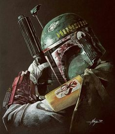 The great bounty hunter boba fett