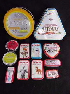ALTOIDS TINS LOT - RARE! TRIO TIN - SOURS - GUM - SMALLS - HEAT MISER - OTHERS #Altoids