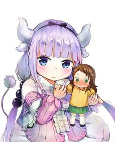 Anime,Аниме,Kobayashi-san Chi No MaiDragon,Kanna Kamui,Saikawa Kawaii Chibi, Kawaii Girl, Kawaii Anime, Dragon Girl, Miss Kobayashi's Dragon Maid, Moe Anime, Anime Art, Lolis Neko, Comics Anime