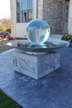 Aqualens in Minnesota, USA - Allison Armour Sphere Fountain Garden Art, Garden Design, Water Features, Country Style, Landscape Design, Minnesota, Compliments, Fountain, Garden Sculpture