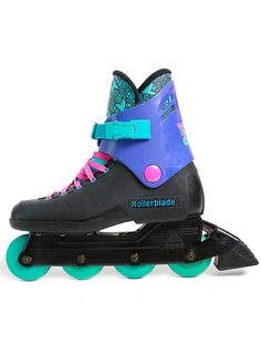 Vintage 90s Neon Original Rollerblades with Serial by MamaVava?  I so wish I had mine from 3rd grade!