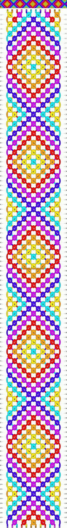 Normal Friendship Bracelet Pattern #11940 - BraceletBook.com