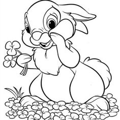 thumper rabbit coloring pages - Google Search