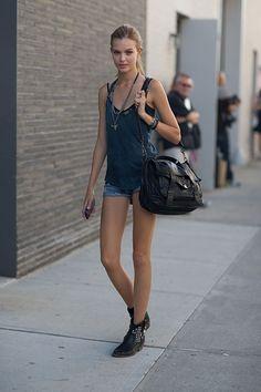 Josephine Skriver - New York Street Style - Harper's Bazaar 2014