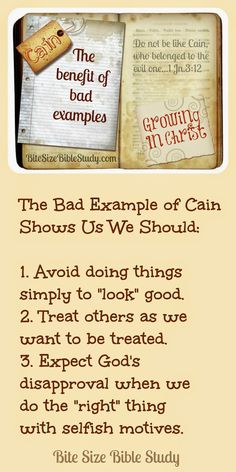 A Good Bad Example, what we learn from studying Cain's character