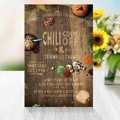 Fall Party Flyer/Invitation Design by DesigningPixelDust on Etsy